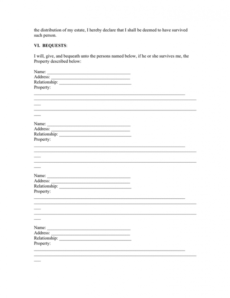Best California Last Will And Testament Template Word