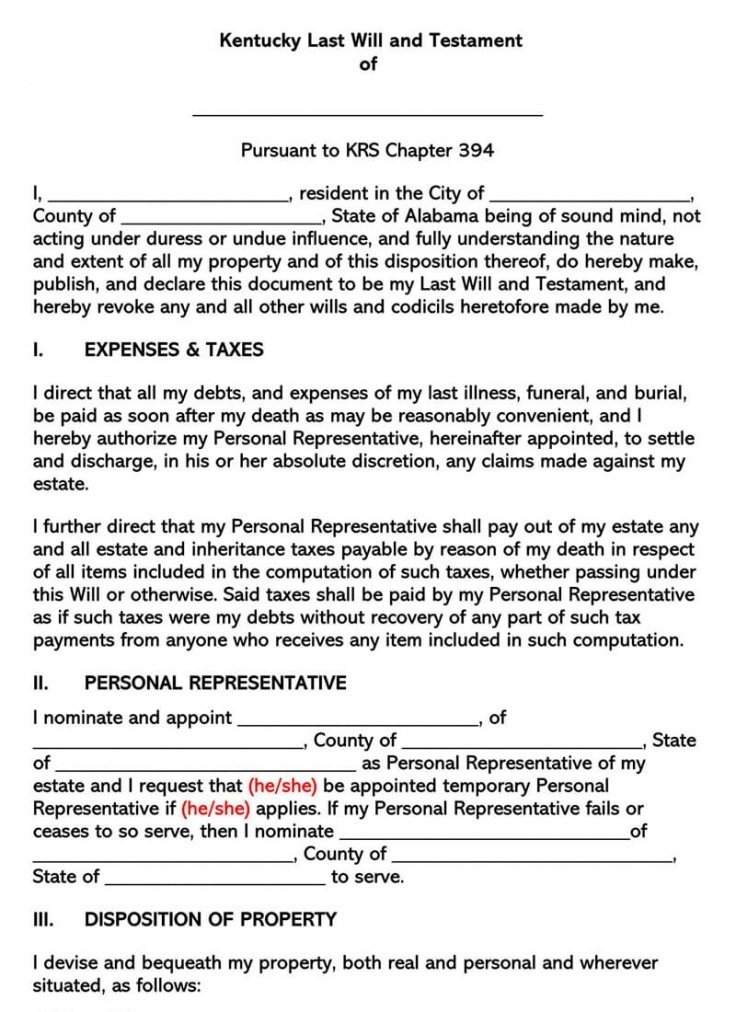Best Colorado Last Will And Testament Free Template Pdf Example