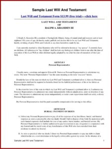 Best Last Will And Testament Template For Married Couple