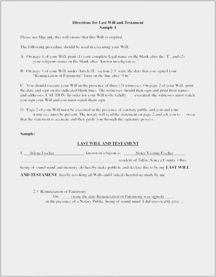 Best Maryland Last Will And Testament Template Doc Sample