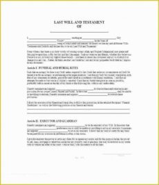 Best Public Will And Testament Template California Doc Example