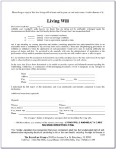 Costum Illinois Last Will And Testament Template Excel