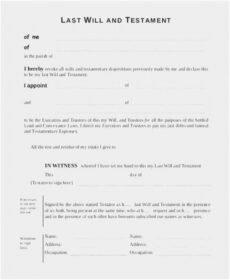 Editable Joint Will And Testament Template Doc Sample
