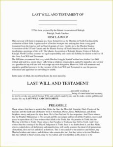 Editable Personal Will And Testament Template Pdf