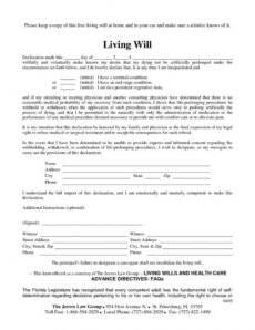 Printable Maryland Last Will And Testament Template Pdf