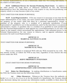 Professional Maryland Last Will And Testament Template Pdf Sample