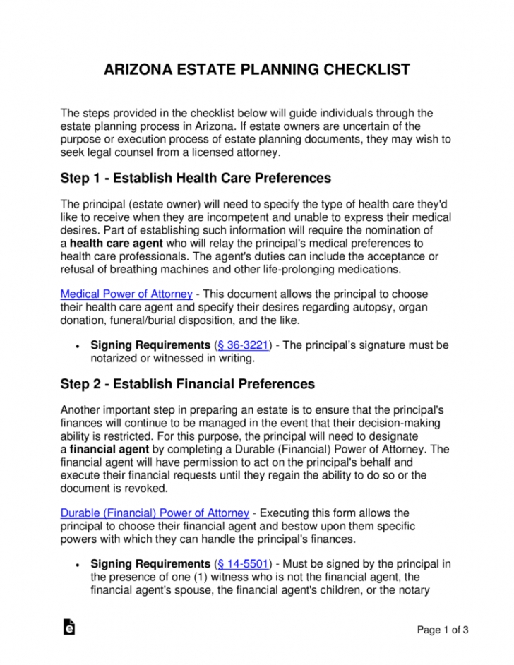Free Will And Estate Planning Template  Example