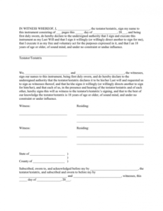 Professional Oklahoma Last Will And Testament Template