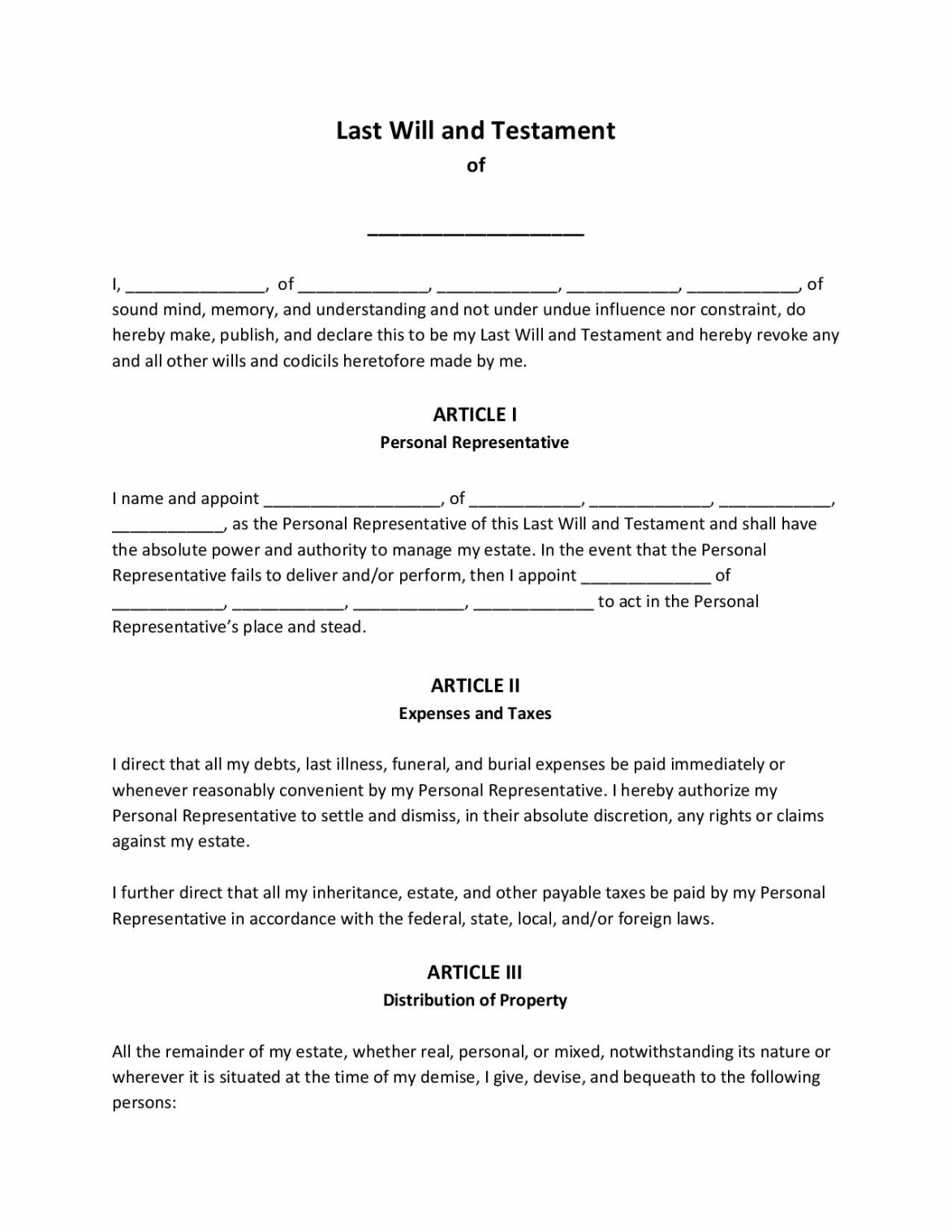 Professional Oklahoma Last Will And Testament Template Excel Example
