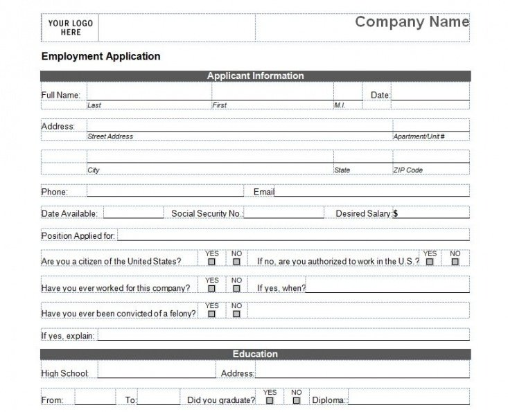 Best At Will Employment Form Template  Sample