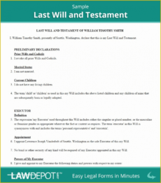 Best Easy Last Will And Testament Free Template Doc Sample