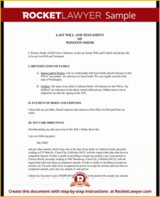 Best Texas Last Will And Testament Template Doc