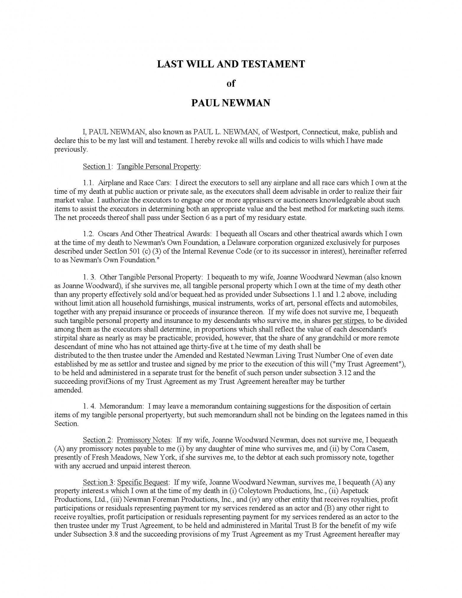 Best Washington State Last Will And Testament Template Doc