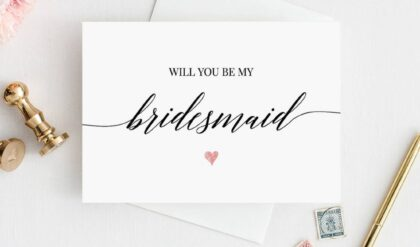 Best Will You Be My Maid Of Honor Template Excel Example