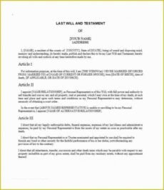Costum Last Will And Testament Template Uk  Example