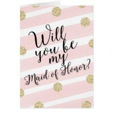 Costum Will You Be My Maid Of Honor Template Word Example