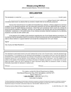 Editable Living Will Advance Directive Template Excel