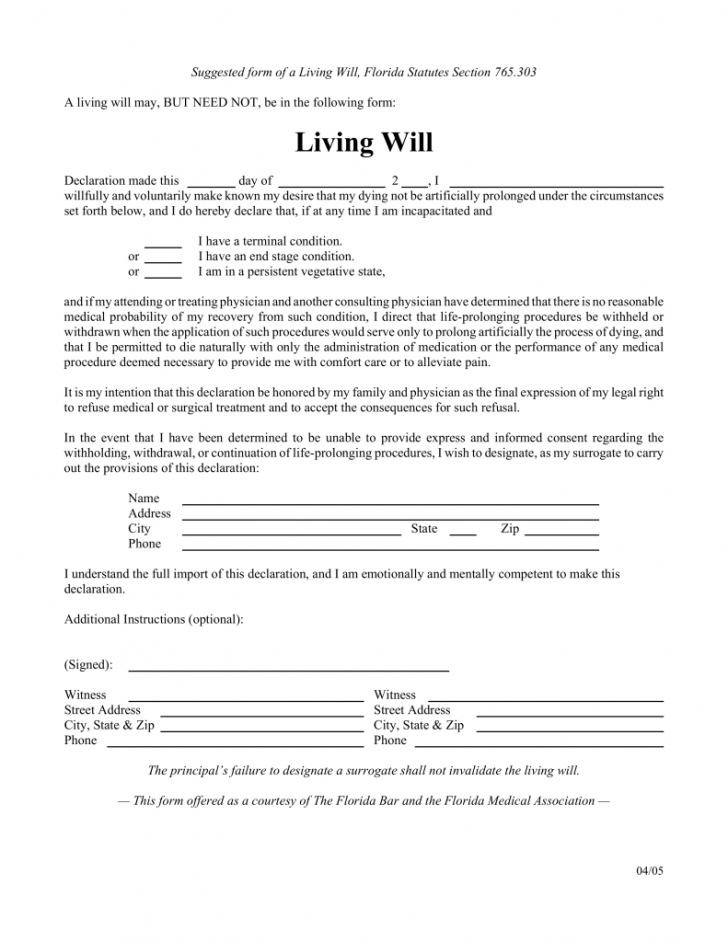Editable Online Last Will And Testament Template Pdf
