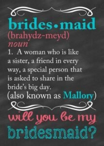Editable Will You Be My Maid Of Honor Template Word Sample