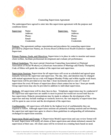 Free Clinical Supervision Personal Will Template  Sample