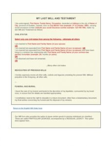 Free Kansas Contractual Last Will And Testament Template Pdf Example