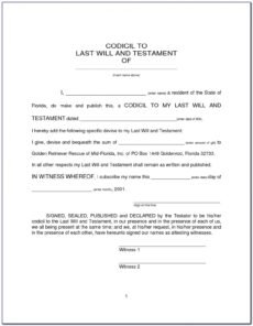 Free Last Will And Testament Template Uk Pdf