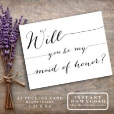 Free Will You Be My Maid Of Honor Template  Example