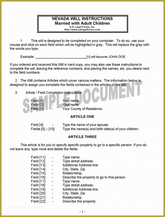 Last Will And Testament Template Idaho Word