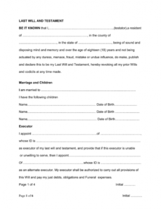 Last Will And Testament Template Uk