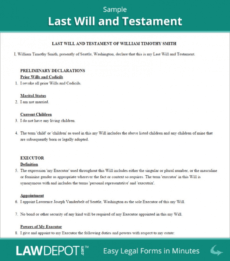 Printable Last Will And Testament Template South Carolina Excel Sample