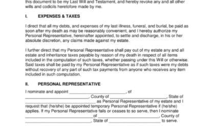 Professional Washington State Last Will And Testament Template Doc