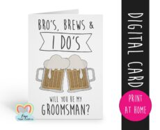 Professional Will You Be My Groomsman Template Doc Sample