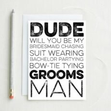 Professional Will You Be My Groomsman Template Word Example