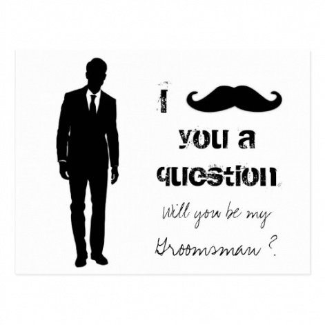 Professional Will You Be My Groomsman Template