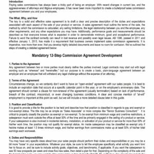 Best Employee Sales Commission Agreement Template Doc