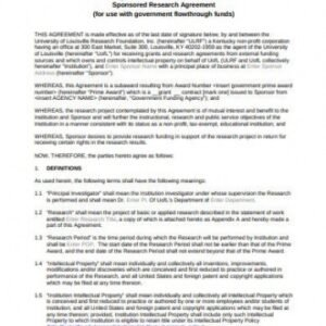 Free Research Collaboration Agreement Template Word